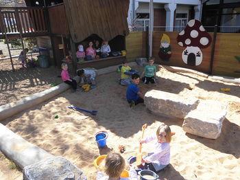 Außengelände Sand